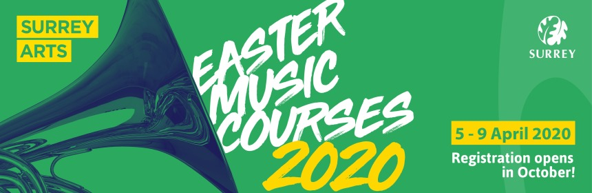 Easter Music Courses for 5th to 9th April 2020. Registration opens in October.