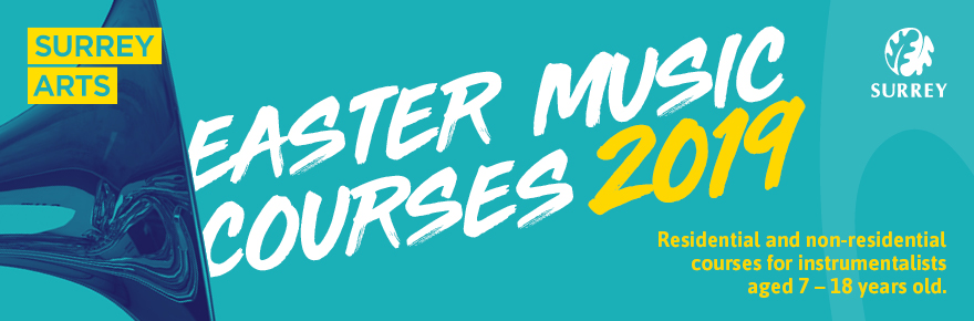 Easter music courses 2019. Residential and non-residential courses for instrumentalists aged 7 to 18 years old.
